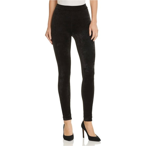 Theory Womens Velour Casual Leggings, black, 6. Opens flyout.