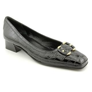 Amalfi By Rangoni Mora Women N/S Square Toe Leather Black Heels