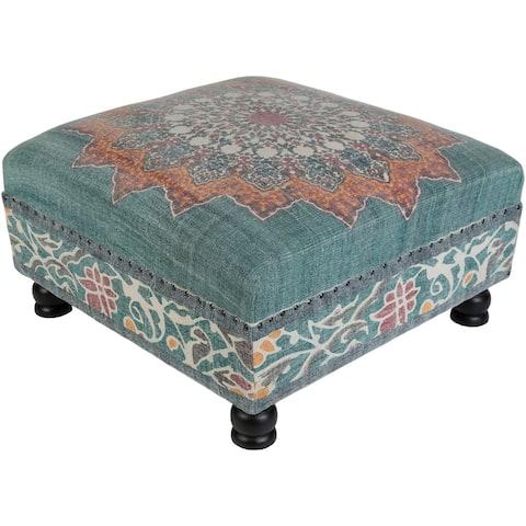 Dilsad Green Boho Cotton Bench