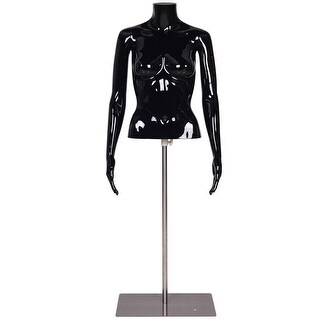 Costway Headless Female Mannequin Torso Display Dress Form Adjustable w/ Metal Base