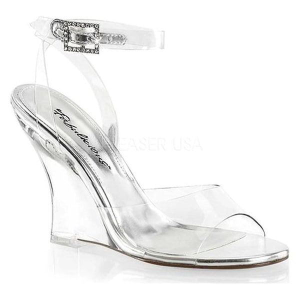 a215e9a1aa Shop Fabulicious Women's Lovely 406 Wedge Sandal Clear PVC/Clear - On Sale  - Free Shipping Today - Overstock - 14358110