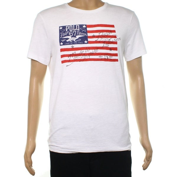 29c70f06f83 Shop Polo Ralph Lauren White Mens Size Medium M Graphic Tee T-Shirt - Free  Shipping On Orders Over  45 - Overstock.com - 22384770