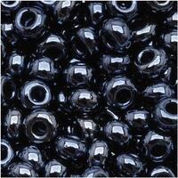 Czech Seed Beads 8/0 Hematite Metallic (1 Ounce)
