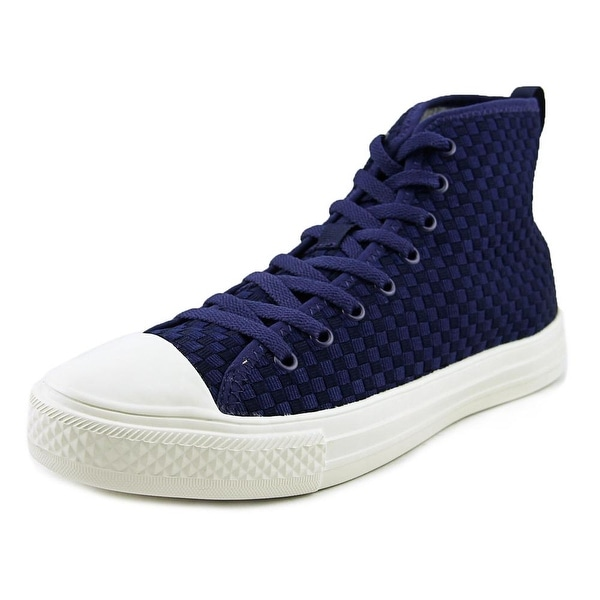 People Footwear The Phillips High Men Round Toe Synthetic Blue Sneakers