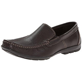 G.H. Bass & Co. Mens Racer Loafers Faux Leather Square Toe