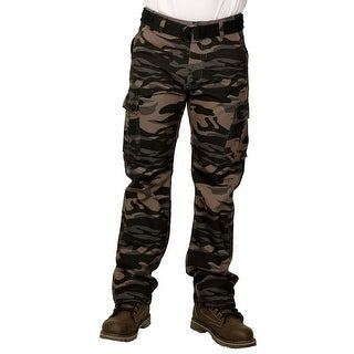 Royal Blue Men's Premium Twill Camouflage Cargo Pants