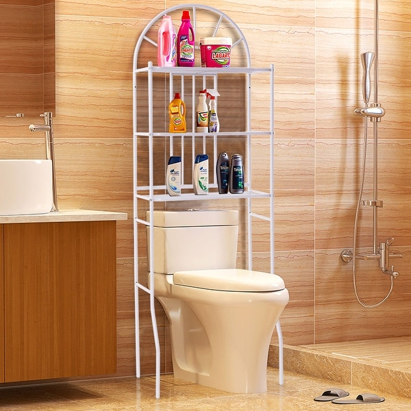 Shop Costway 3 Shelf Over The Toilet Bathroom Space Saver ...