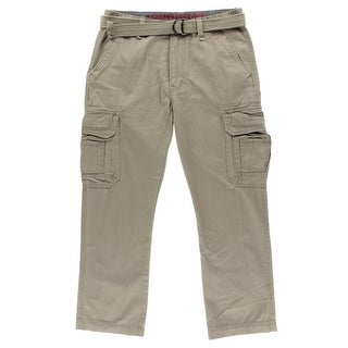 Unionbay Mens Flat Front Casual Cargo Pants