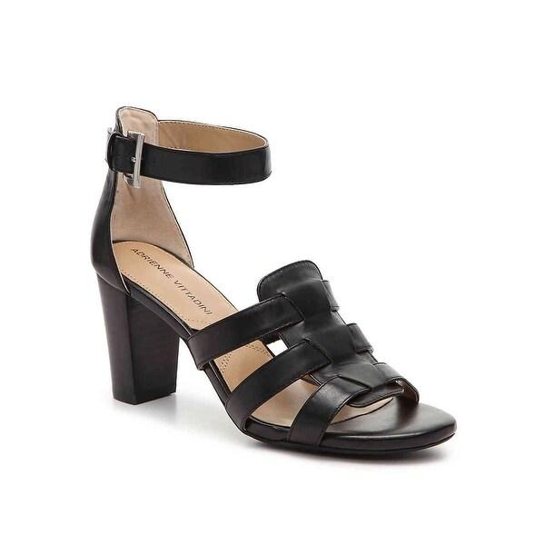 Adrienne Vittadini Womens belinda Leather Open Toe Casual Slingback Sandals - 6