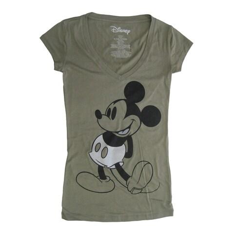 Disney Womens Green Disney Mickey Mouse Short Sleeve Shirt - xs