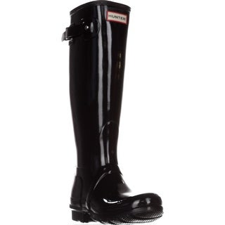 Hunter Original Tall Gloss Rain Boots, Black