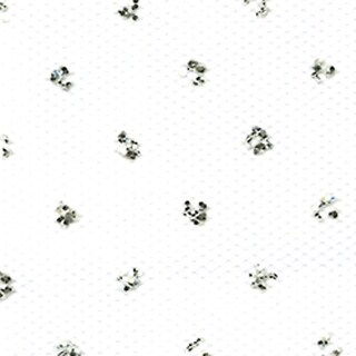 "White - Silver Sparkle Tulle 6""X25yd Spool"