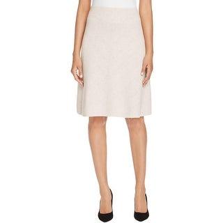 Nic + Zoe Womens Flare Skirt Textured Knit