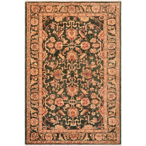 """Shabby Chic Ziegler Ammie Hand Knotted Area Rug -5'11"""" x 8'10"""" - 5 ft. 11 in. X 8 ft. 10 in."""