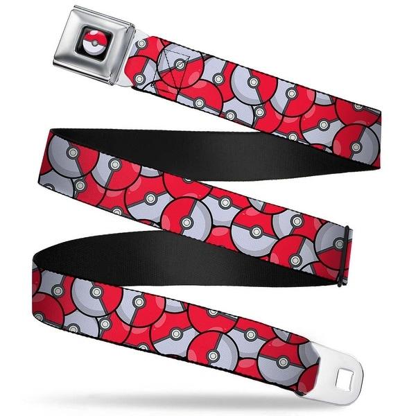 Pok Ball Full Color Black The Pok Ball Stacked Red White Webbing Seatbelt Seatbelt Belt