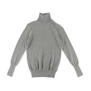 Zara Knit Womens Knit Ribbed Trim Turtleneck Sweater