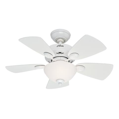 "Hunter 34"" Watson Ceiling Fan with LED Light Kit and Pull Chain"