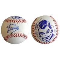 Stan Lee Signed Baseball w/ Michael Golden Sketch of Rogue Lee Holo JSA L26419