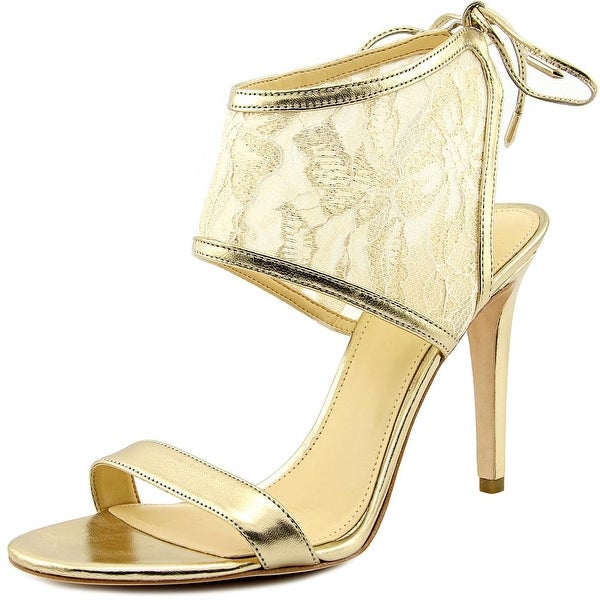 Ivanka Trump Daza Women  Open Toe Synthetic Gold Sandals