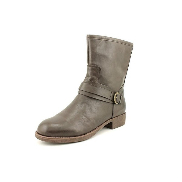 Easy Spirit Womens Yarona Leather Almond Toe Ankle Fashion Boots
