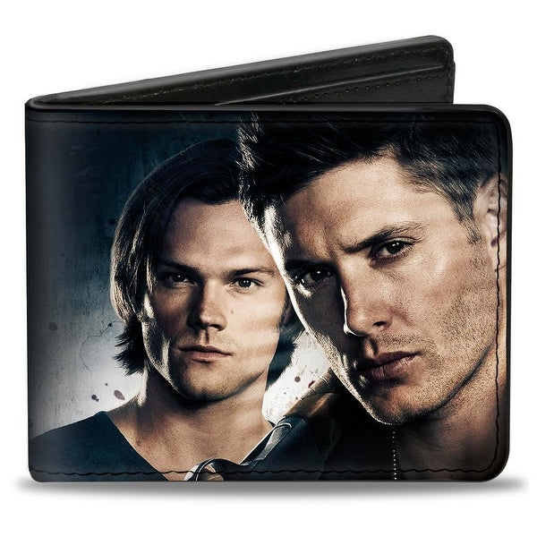 Winchester Brothers Close Up + Supernatural Logo Bi Fold Wallet - One Size Fits most