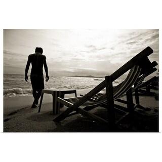"""Beach man"" Poster Print"