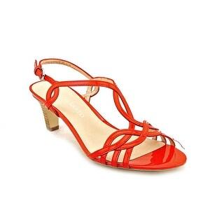 Franco Sarto Trixie Women Open Toe Patent Leather Sandals