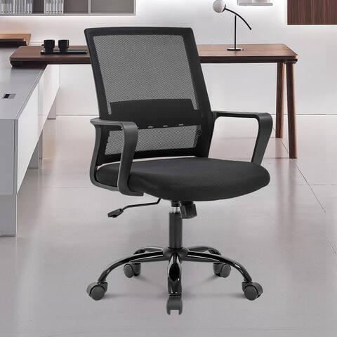 TiramisuBest Office Chair Ergonomic Mesh Adjustable Home Desk Office Chair Modern Design Reclining Chair(Black)