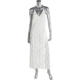 Rebecca Minkoff Womens Lace Crochet Back Maxi Dress - 6