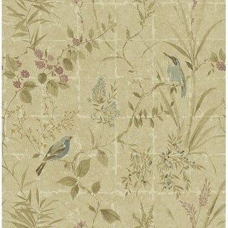 Brewster 2669-21702 Imperial Neutral Garden Chinoiserie Wallpaper