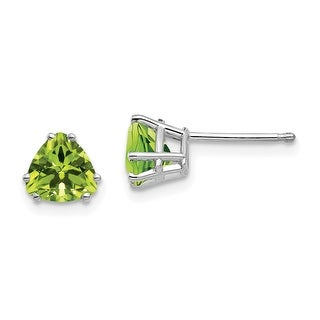 Link to 14K White Gold 6mm Trillion Peridot Earrings by Versil Similar Items in Earrings