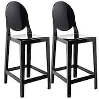 2xhome Set of 2 Black Bar Stool Height For Home Dining Work Restaurant Outdoor Patio With Back Side Armless Chairs