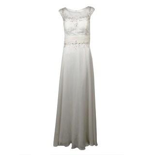Decode 1.8 Women's Sequin Embroidered Chiffon Dress - White - 8