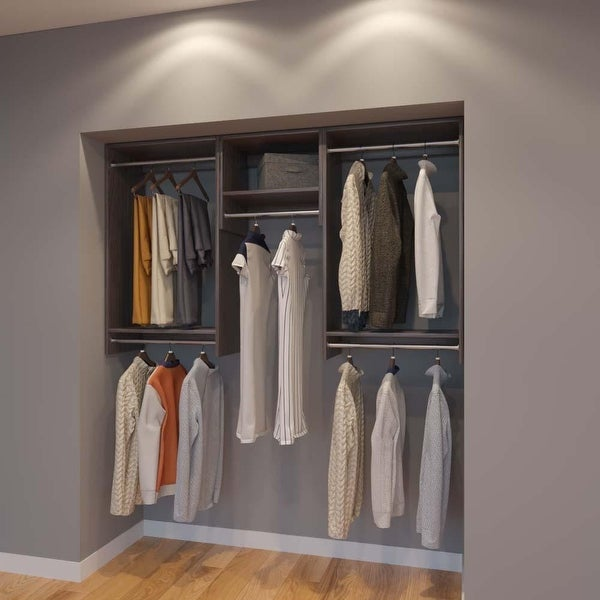 Shop Modular Closets 6 FT Closet Organizer System