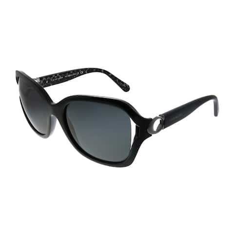 Coach L1030 HC 8238 551087 Womens Black Frame Dark Grey Lens Sunglasses