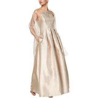 Vince Camuto Womens Formal Dress Taffeta Embellished