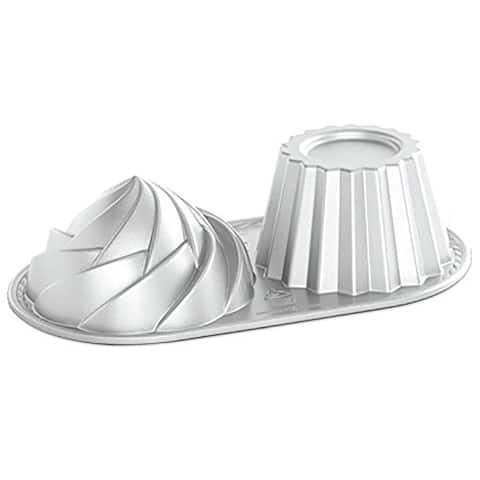 Nordicware Pro Cast Cute Jumbo Cupcake Non-Stick Baking Pan, Gray, 6 Cups