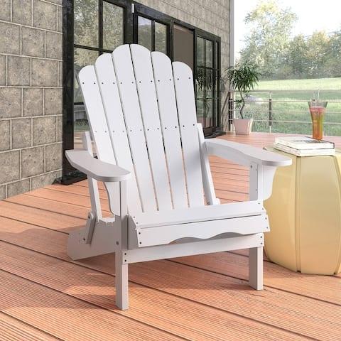 Haven Folding Poly Resin Plastic Adirondack Chair