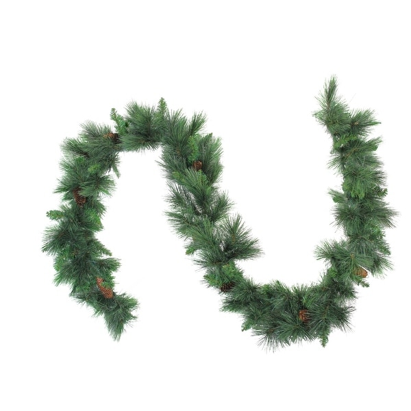 Artificial Christmas Garland.9 X 14 White Valley Pine Artificial Christmas Garland Unlit Green