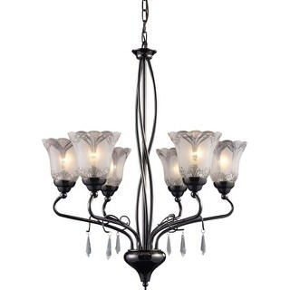 Landmark Lighting 8076 Crystal Six Light Chandelier from the Nouveau Collection