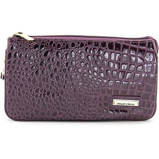 Madi Claire 4973 Women Leather Purple Clutch