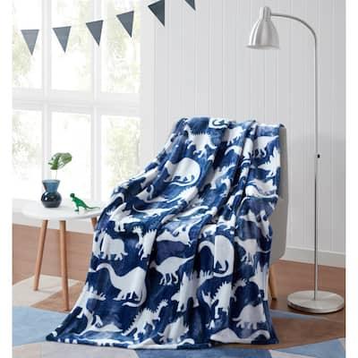 Asher Home Dinosaur Dreams Plush Throw Blanket