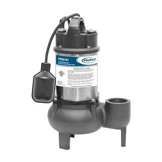 ProFlo PF93781 1/2 HP Cast Iron Submersible Sewage Pump with Tethered Float Switch