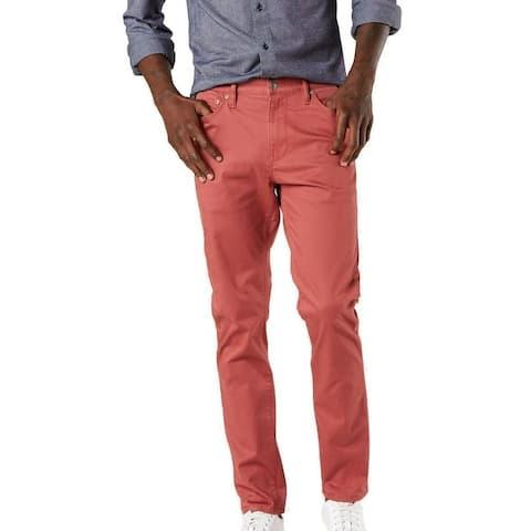 Dockers Mens Chino Pants Apple Red Size 38x30 Jean-Cut Slim Fit Stretch
