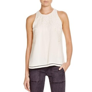 Joie Womens Perdue Blouse Silk Cut-Out - s