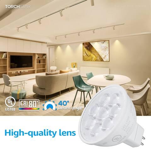 MR Series 6.5W MR16 LED Bulb, 3000K Warm White, 12V GU5.3 Spotlight Bulb - 12PACK