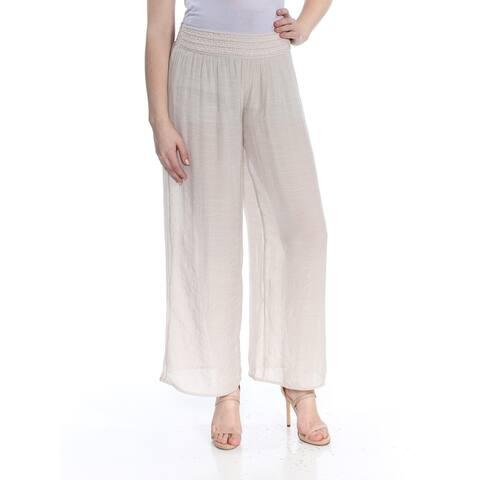 BCX Womens Beige Wide Leg Gauze Soft Pants Juniors Size: XL