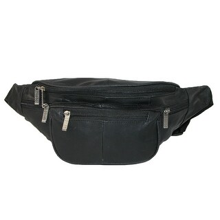 Leather Impressions Leather Extra Large Waist Pack with Nylon Strap