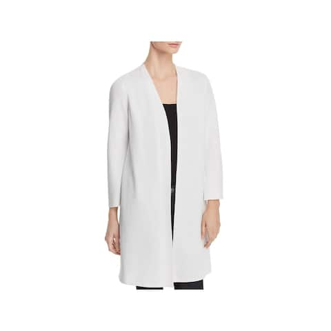 Eileen Fisher Womens Cardigan Sweater Open Front Waffle-Knit - P/S
