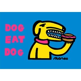 ''Dog Eat Dog'' by Peter Marco Humor Art Print (24 x 30 in.)